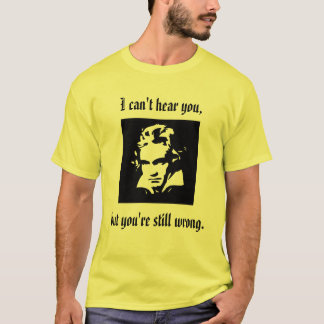 Camiseta de la actitud de Beethoven