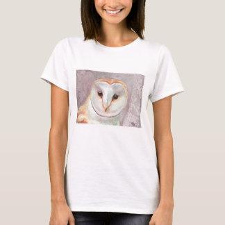Camiseta de la acuarela de la lechuza común camiseta