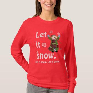 Camiseta de la alegría del muñeco de nieve