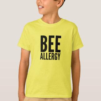Camiseta de la alergia de la abeja