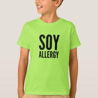 Camiseta de la alergia de la soja