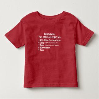 Camiseta de la alergia de Miliminator del niño