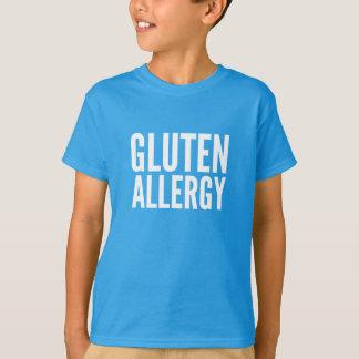 Camiseta de la alergia del gluten