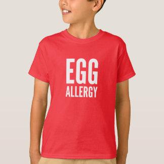 Camiseta de la alergia del huevo