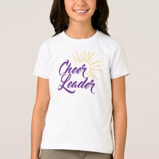 Camiseta de la animadora - púrpura y oro