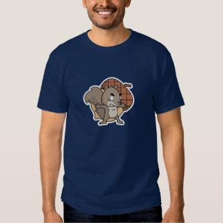 Camiseta de la ardilla del dibujo animado
