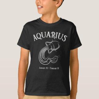 Camiseta de la astrología del zodiaco del acuario