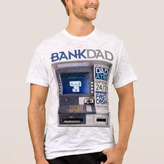 Camiseta de la atmósfera del papá del banco