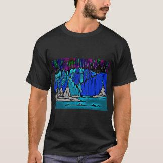 Camiseta de la aurora boreal