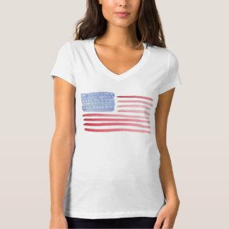 Camiseta Camiseta de la bandera americana de los E.E.U.U.