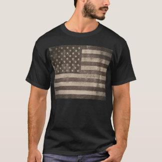 Camiseta de la bandera americana del vintage