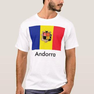 Camiseta de la bandera de Andorra