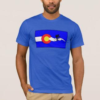 Camiseta de la bandera de Colorado de la bici de