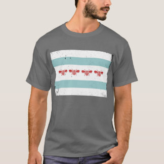 Camiseta de la bandera de la abeja de Chicago de