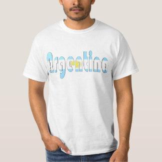 Camiseta de la bandera de la Argentina