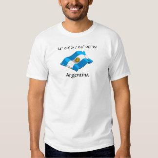 Camiseta de la bandera de país de la Argentina