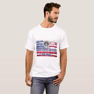 Camiseta de la bandera del lema del objetivo de la