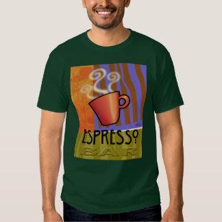 Camiseta de la barra del café express