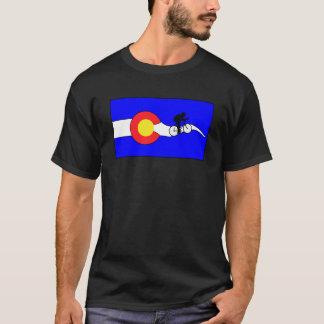 Camiseta de la bici de la bandera de Colorado de