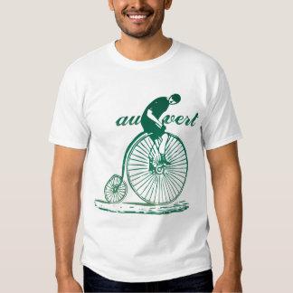 Camiseta de la bicicleta del vintage de Vert del