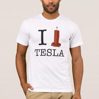 Camiseta de la bobina de I (corazón) Tesla
