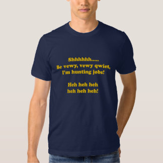 Camiseta de la búsqueda de empleo