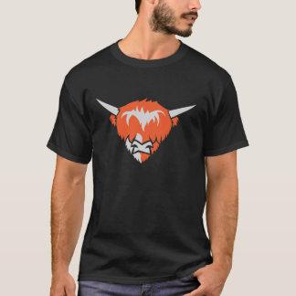 Camiseta de la cabeza de la vaca del montañés