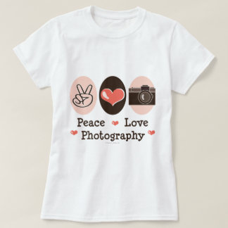 Camiseta de la cámara de la fotografía del amor de