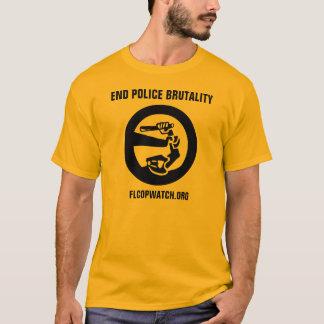 """Camiseta De la """"camisa del oro brutalidad policial del"""