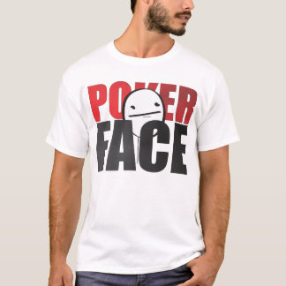 ¡Camiseta de la cara de póker! Camiseta