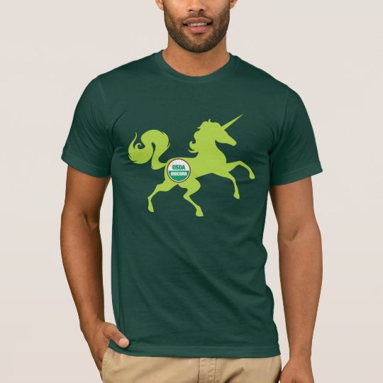 Camiseta de la carne del unicornio del USDA
