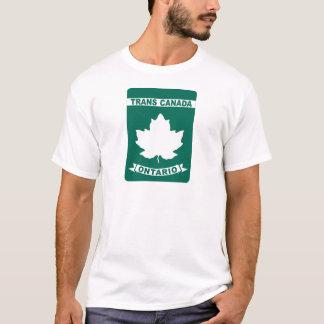 Camiseta de la carretera del transporte Canadá -