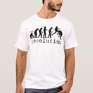 Camiseta de la carta de la evolución de la