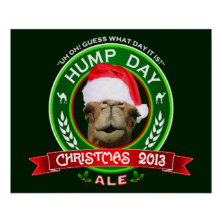 Camiseta de la cerveza inglesa del navidad del día póster