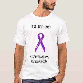 Camiseta de la cinta de la conciencia de Alzheimer