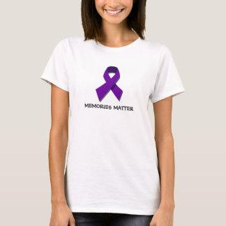 Camiseta de la conciencia de Alzheimer de la