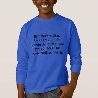 Camiseta de la conciencia del autismo para las
