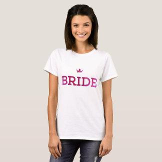 camiseta de la corona de la novia
