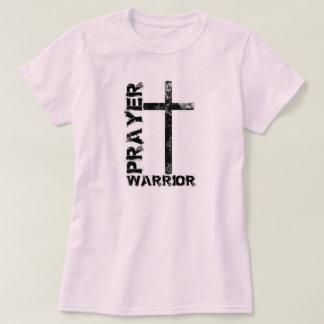 Camiseta de la cruz del guerrero del rezo