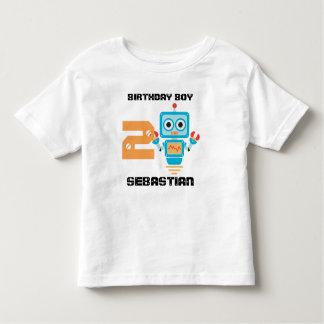 Camiseta de la edad del robot del cumpleaños