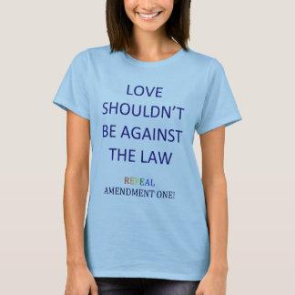 Camiseta de la enmienda una de la derogación