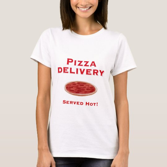 Desnudo para la entrega de pizza