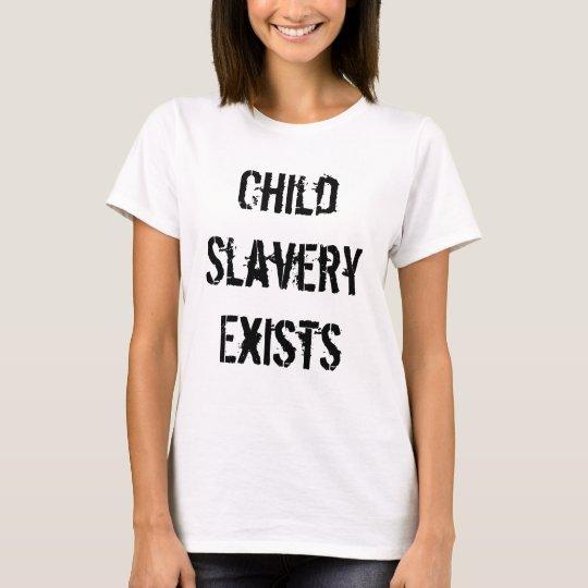 Camiseta de la esclavitud del niño (señoras)