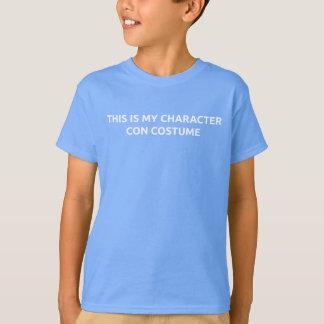 Camiseta de la estafa del carácter del niño