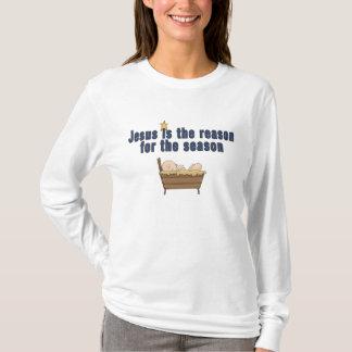 Camiseta de la estrella de Jesús del bebé del tema