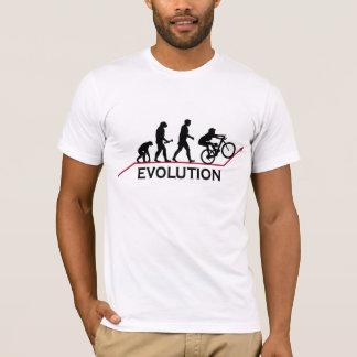 Camiseta de la evolución de la bici de montaña