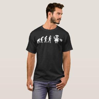 Camiseta de la evolución humana del cocinero de la