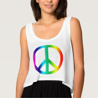 """""""Camiseta de la expresión de la paz del arco iris"""" Camiseta Con Tirantes"""