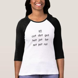 Camiseta de la familia de la palabra