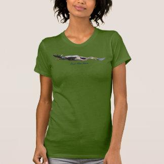 Camiseta de la fauna de la garza de gran azul que